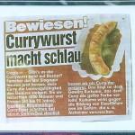 Currywurst macht schlau
